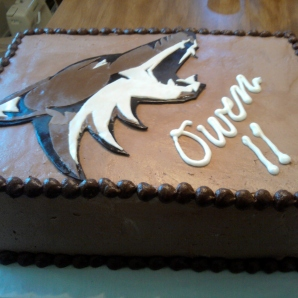 coyote cake closeup