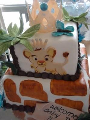 lion king baby shower cake1