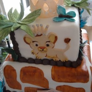 lion king baby shower cake1