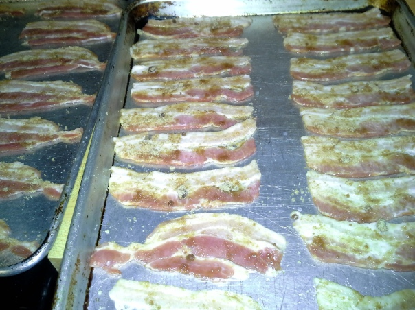 Lay out the bacon